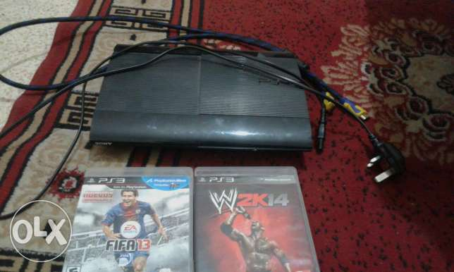 Ps3 superslim 500 GB perfect condition & 15 games