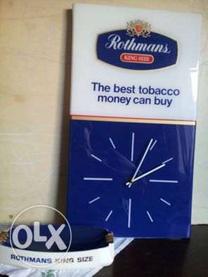 Vintage Collection (Rothmans Wall Clock & Ashtray)
