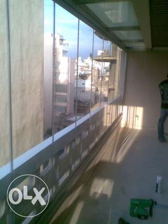 balcony glass curtains حدث -  4