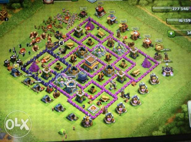 clash of clans th 8 max wall ()