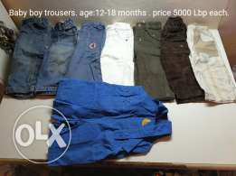 Small children clothes (1 to 4 years)