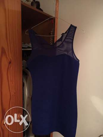 blue short dress medium size خلدة -  1