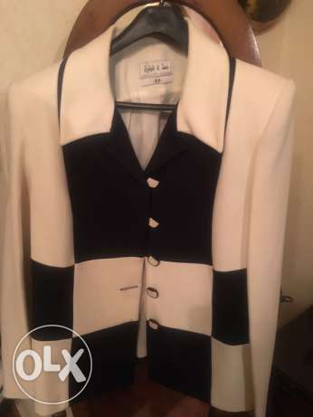 Dark navy and White jacket size M
