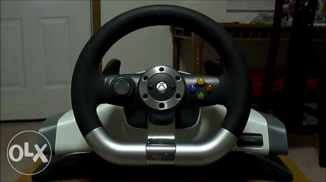 microsoft xbox 360 steering wheel and reciever for pc