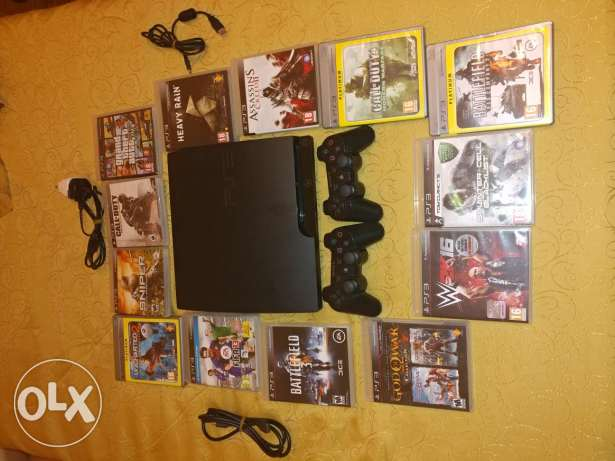 Ps3 320gb 2controller 15cds like new