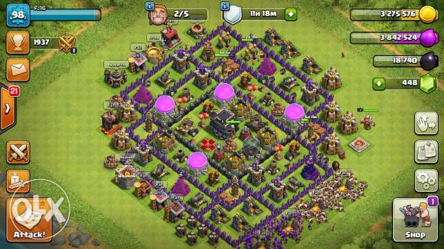 Clash of clan Town hall lvl 9