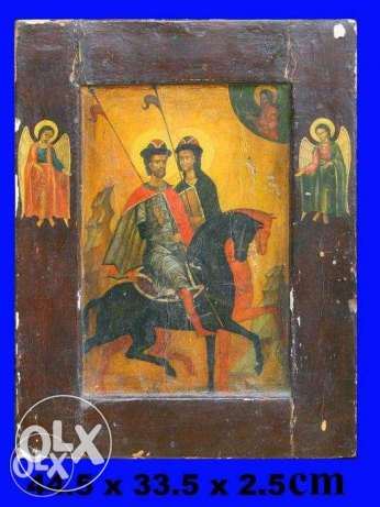 "Icon ""Boris and Gleb"" religious icon"