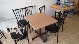 Tables and chairs طاولات وكراسي