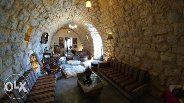 Achkout-1975m2 land with a traditional lebanese cellar-panoramic view