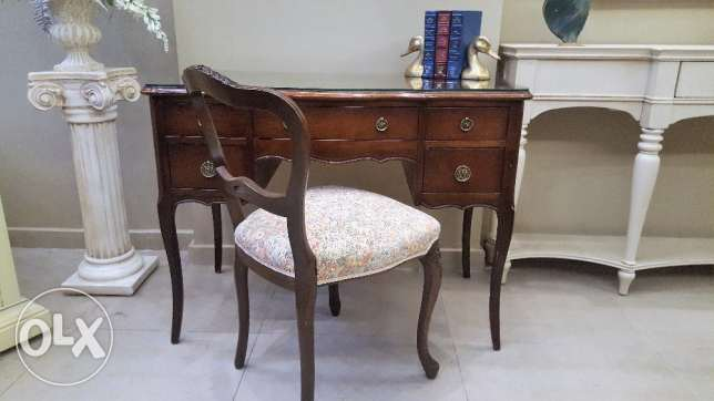 Canadian Furniture - Desk with chair.