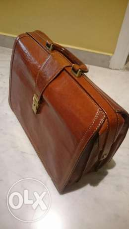 Business man hand bag - pure leather