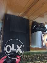 playstation 3 Slim 500Gb 2 controllers+8CDs+driving set