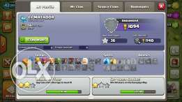 Account clash of clans th6 ta2riban max