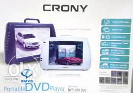 Portable DVD player, usb, pc, rempte control. Black color