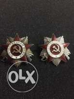 Two soviet order of the great patriotic war 1st and 2nd class.