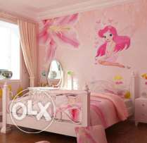 Girls room sticker Fairy Princess Butterfly