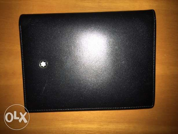 Leather Wallet - Mont Blanc المرفأ -  1
