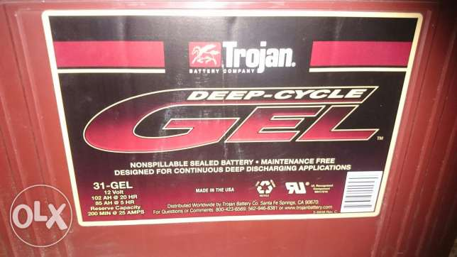 For sale battary trogian made USA deep cycle gel 102 am