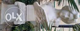 Outdoor marble and bronze sculptures and statues