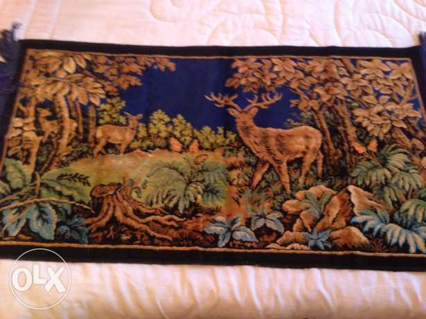 silk deer carpet $ 40