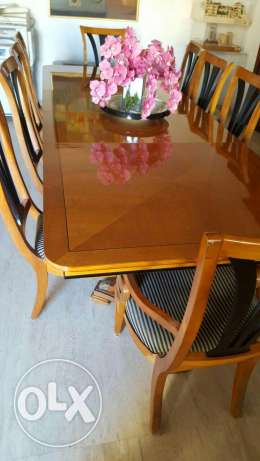Dining table with its cupboard