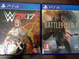 ps4 wwe17 and bf1