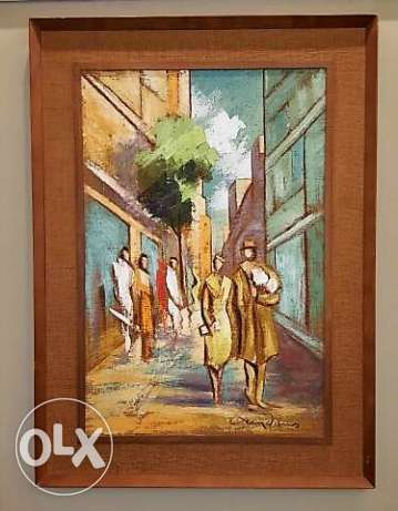 Canadian Furniture - Large Oil Painting Framed