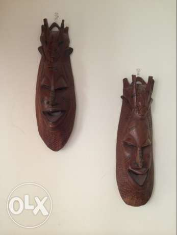 decoration , wood, african, very good condition, each for 30$,style, m