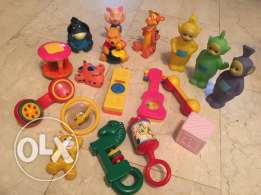 baby rattles and toys 18 pcs