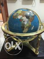 World globe made of precious stones