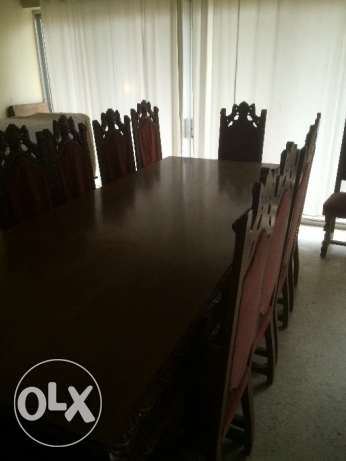 Antique hand made dining table