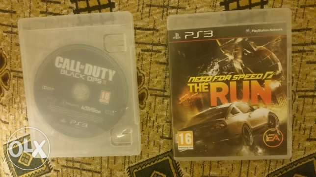 2cds call of duty and need for speed the run for ps3