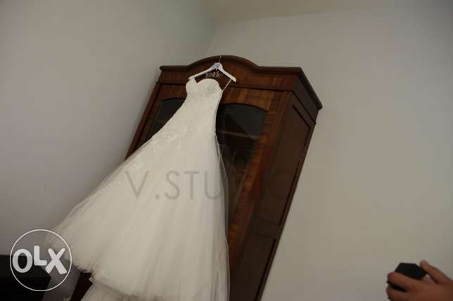 Designer Wedding Dress for Sale!! FREE evening dress included بعبدا -  3