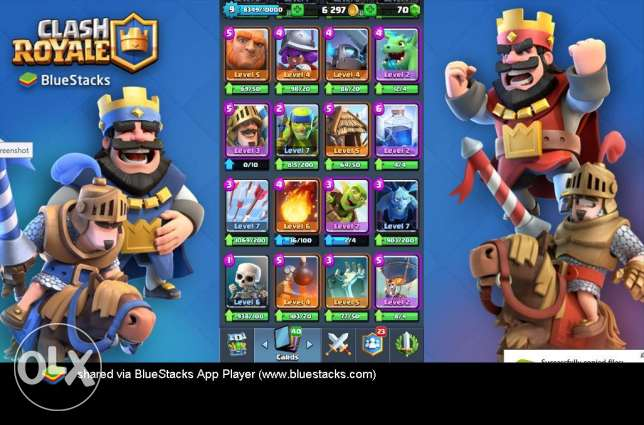 Boom Beach + Clash of Clans + Clash Royale - 1 Package - 1 Account