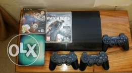 Ps3 with 3controlers and 3games