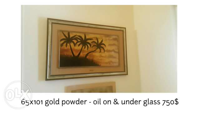 Gold Powder with oil Paintings