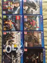 ps4 games barely used