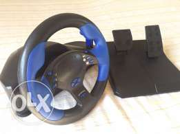 steering wheel with his accessories ps2/ps/pc never used