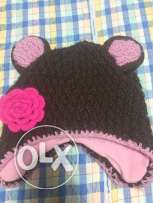 Wool bear cap for kids