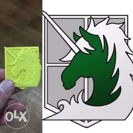 logo attack on titan military police emblem ( horse logo ) 3d printer