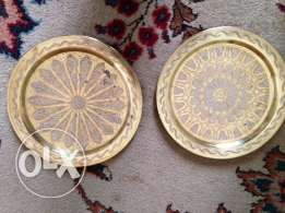 brass plates and other decorative items