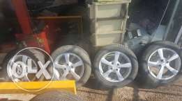 """15"""" Used Like New Rims and Tires"""
