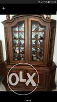 Vitrine+Dressoir solid wood cherry used in very good condition 50y old