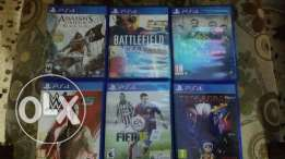6 cds ps4 for sale or trade like new