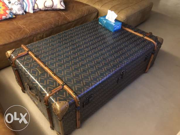 leather coffee table chest, 130cm x 80cm