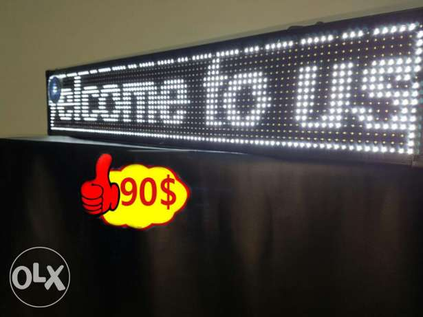 wifi led sign scrolling message