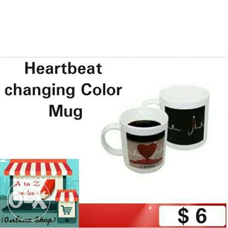 Heartbeat changing Color Mug