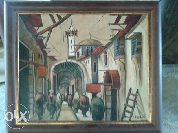 an oil painting drawing with frame size 50