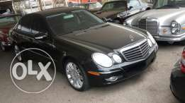 Mercedes E350 Black and Black