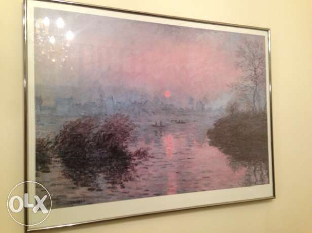Wall art Claude Monet. Last chance leaving country October 25. كسروان -  2